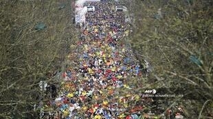 Tens of thousands of runners had signed up for the Paris Half Marathon on Sunday 1 March.