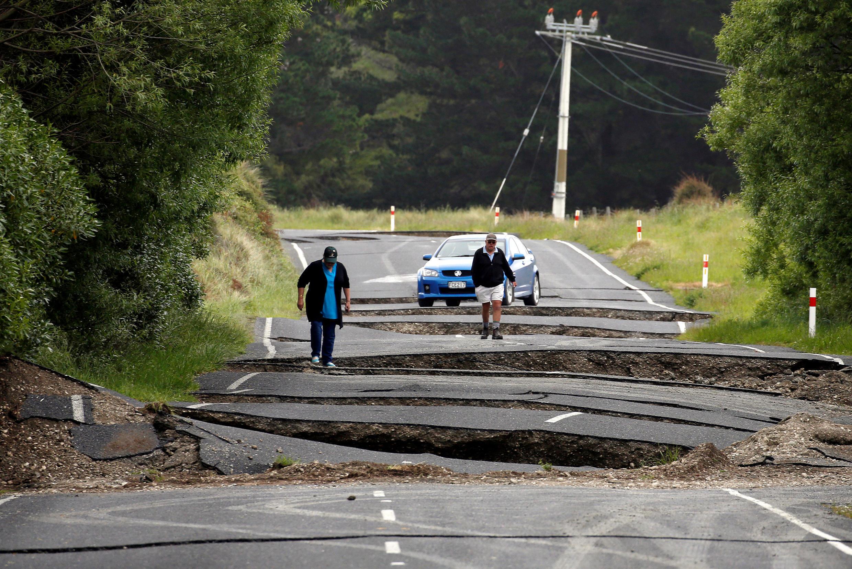 Estrada em Blenheim, no sul da Nova Zelândia - 14 Novembro 2016
