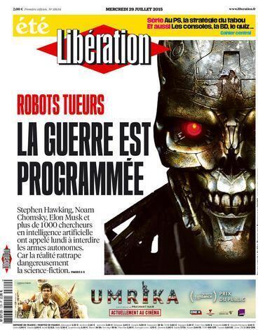 Capa do jornal Libération desta quarta-feira, dia 29 de julho de 2015.