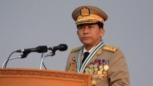 缅甸武装部队总司令敏昂莱(Min Aung Hlaing) 2017.3.27