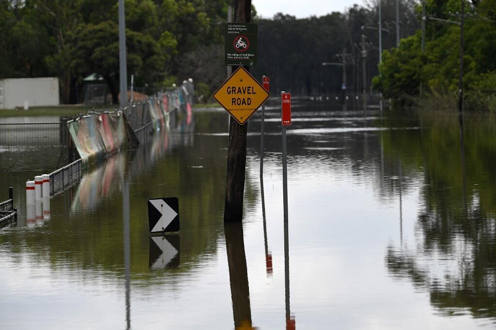 Un quartier inondé de Sydney suite aux pluies abondantes, début février 2020.