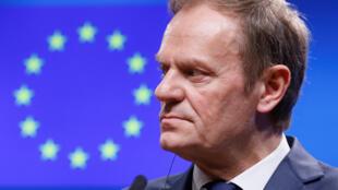 Le président du Conseil européen Donald Tusk, le 27 février dernier à Bruxelles;