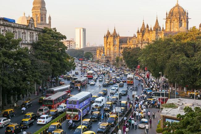 Gare de Chhatrapati Shivaji à Bombay.