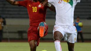 Le Ghanéen André Ayew et le Guinéen Ibrahima Sory (à droite) iront tous les deux à la CAN 2015.