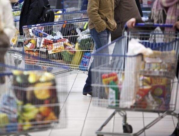 Dans un supermarché français, en  avril 2013.