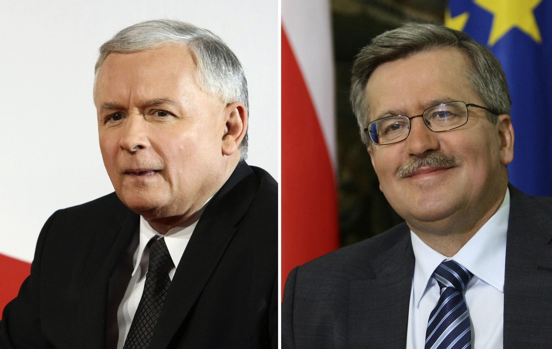 Основные претенденты на пост президента Польши Ярослав Качиньский и Бронислав Коморовский