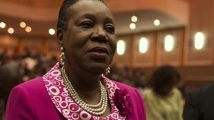 Catherine Samba-Panza después de su elección en Bangui, este 20 de enero de 2014.