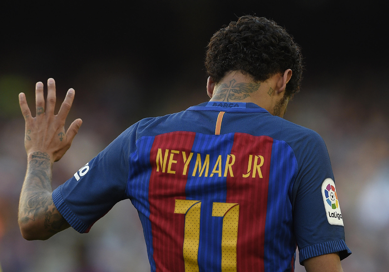 O brasileiro Neymar despediu-se do FC Barcelona.