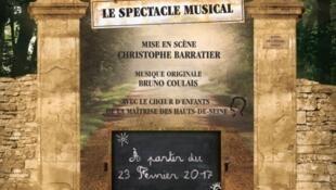 Affiche de la comédie musicale «Les choristes», aux Folies Bergère jusqu'au 21 mai 2017.