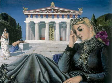 """""""Jeune fille devant un temple"""" (1949)"""