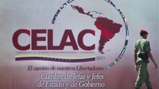 La cumbre fundadora de la Comunidad de Estados Latinoamericanos y Caribeños en Caracas, au Venezuela,