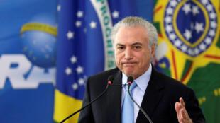 图为巴西总统特梅尔