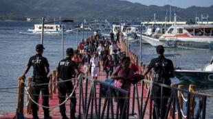 Rouverture au public de l'île de Boracay, aux Philippines, le 26 octobre 2018.