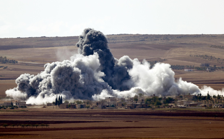 Xung đột tại thành phố Kobani. Ảnh tháng 10/2014.