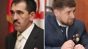 Юнус-Бек Евкуров – глава Ингушетии и Рамзан Кадыров – глава Чечни