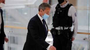 Nicolas Sarkozy no Palácio de Justiça em Paris no dia 01 de Março de 2021