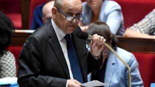 ژان ایو لودریان وزیر امور خارجۀ فرانسه