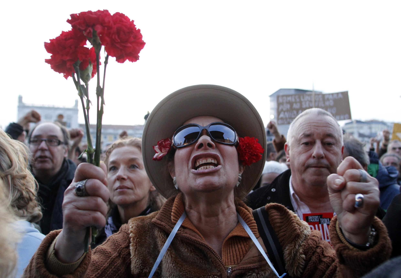 Manifestation contre l'austérité à Lisbonne, le 2 mars 2013.