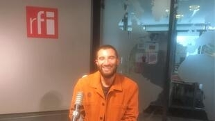 Sabyl Ghoussoub, écrivain et photographe, en studio à RFI (septembre 2020).