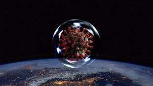virus monde espace coronavirus Covid-19