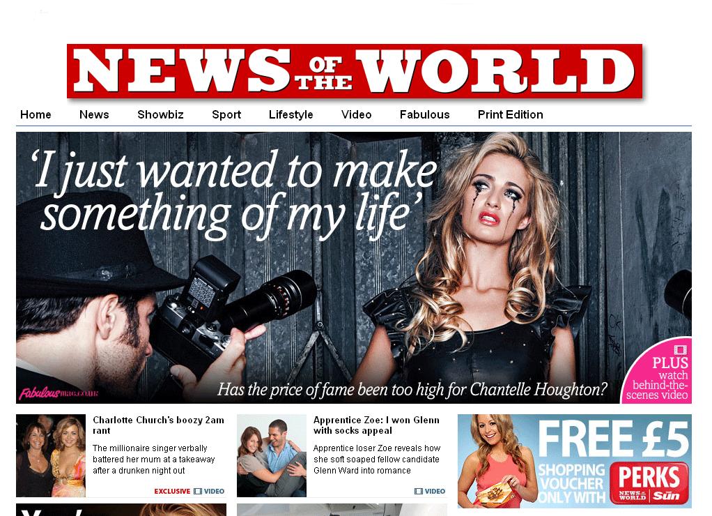 News of the World, dominical sensacionalista del grupo de Rupert Murdoch.