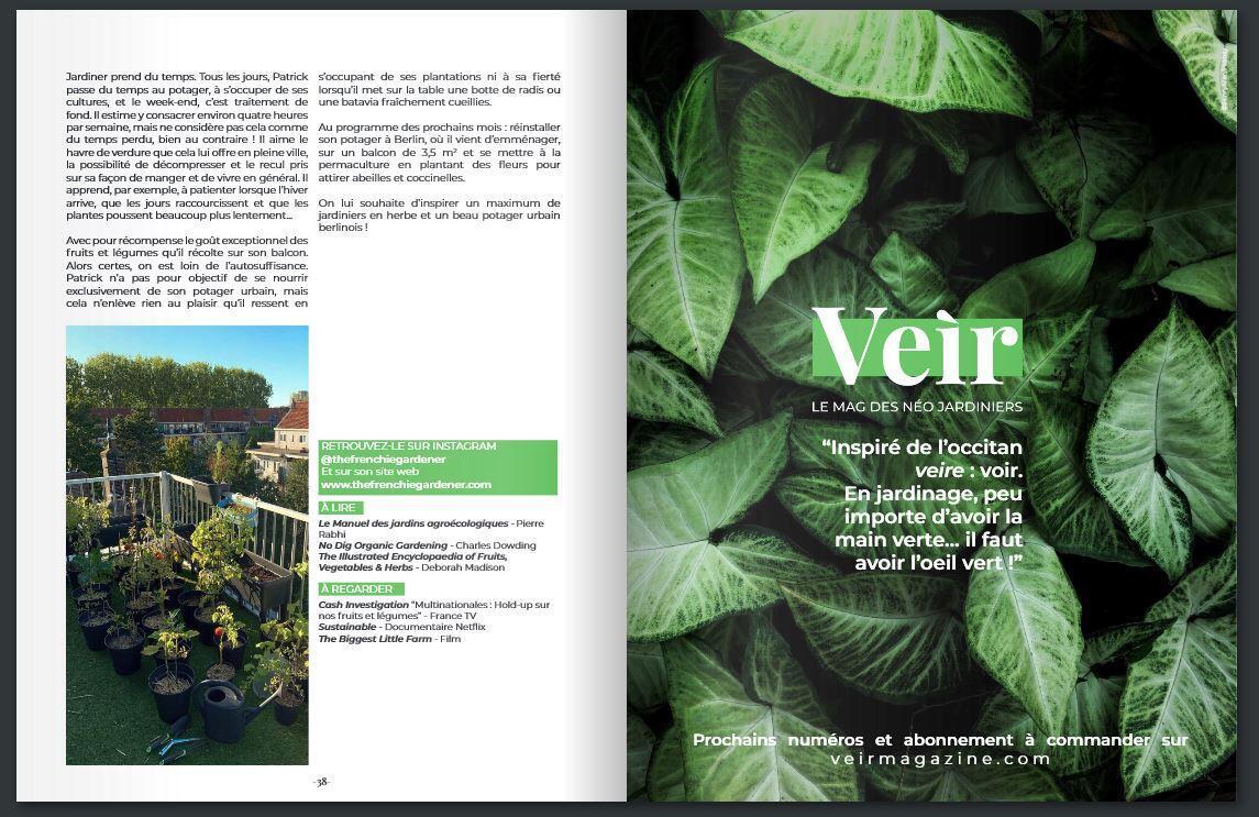 Veìr Magazine se especializa en la jardinería urbana o para principiantes.