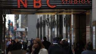 L'entrée des studios NBC à New York.
