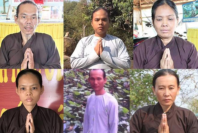 """Ảnh 6 tín đồ Phạt Giáo Hòa Hảo bị xét xử về tội danh """"gây rối trật tự công cộng"""""""