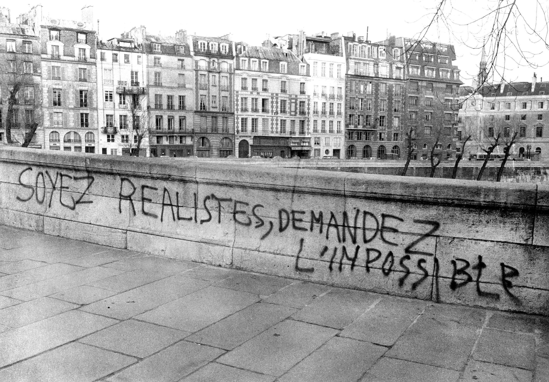 L'un des slogans emblématiques de l'«esprit de Mai», le 3 mai 1968.
