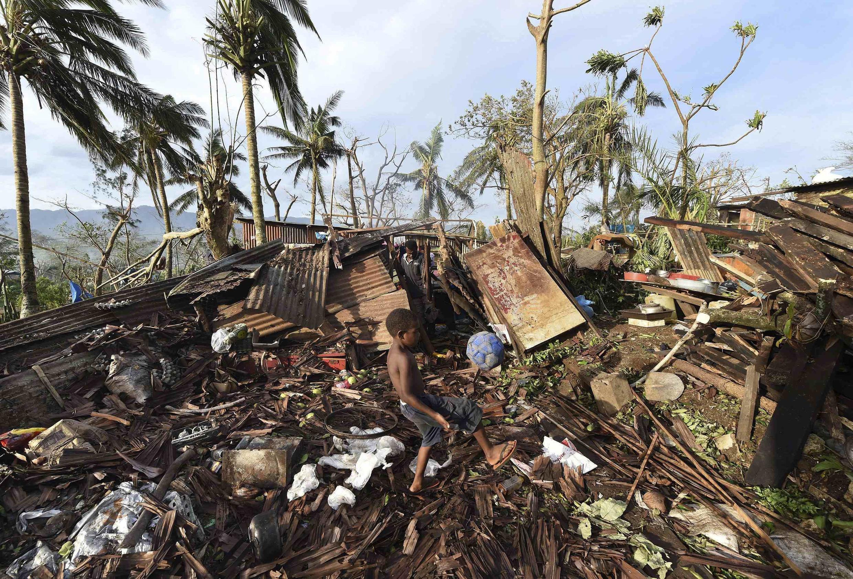 Irin ta'adin da guguwar Pam tayi a yankin Port Villa, na kasar Vanuatu