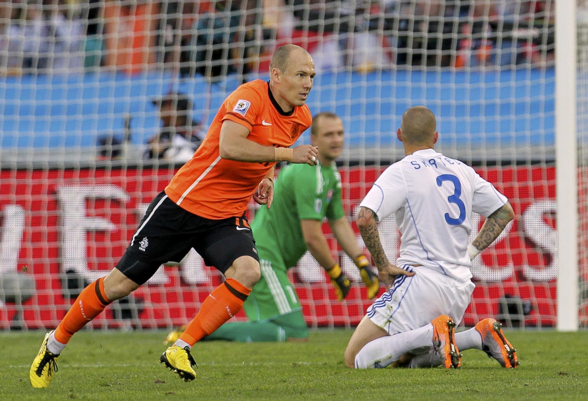 Arjen Robben, tiền vệ đội tuyển áo cam (Reuters)