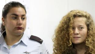 Ahed Tamimi está em penitenciária de Ofer, perto de Ramallah.