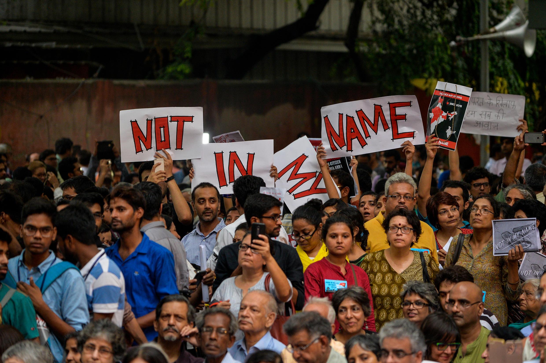 (Ảnh minh họa) - Đoàn người biểu tình tại New Delhi phản đối làn sóng bài người Hồi Giáo, ngày 28/06/2017.