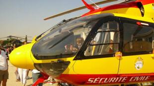 Un hélicoptère EC 145 de la sécurité civile  française.