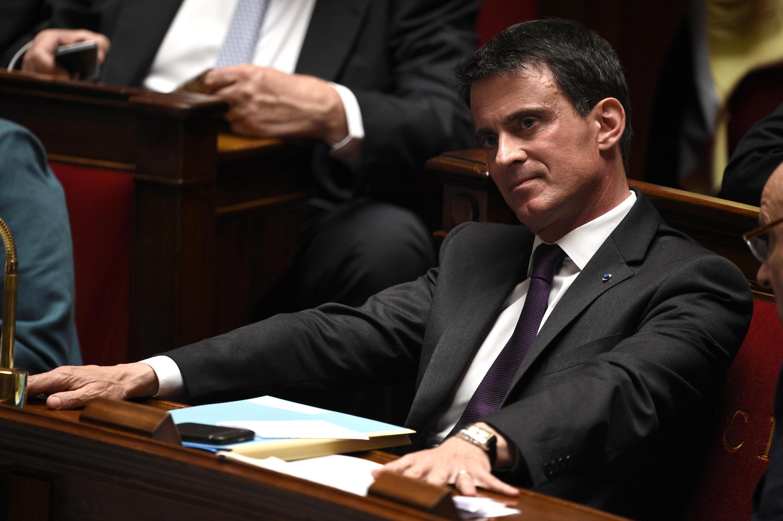Le Premier ministre français, Manuel Valls, lors de la session des questions au gouvernement à l'Assemblée nationale, le 11 mai 2016.