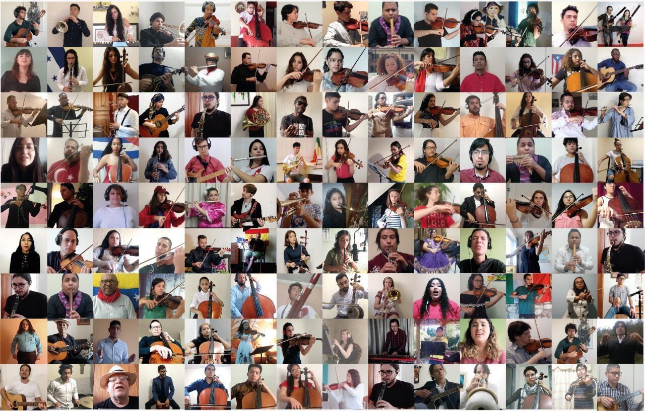 La Orquesta de las Naciones reúne a más de 50 países y a 100 artistas en formación.