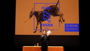 Avignon Festival director Olivier Py at a press conference in March 2016