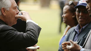 Le secrétaire d'Etat des Etats-Unis Rex Tillerson lors de sa visite en Ethiopie, à Addis-Abeba.
