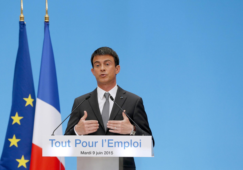 Manuel Valls nesta terça-feira, em Paris.