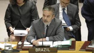 O embaixador brasileiro na ONU, Antonio de Aguiar Patriota