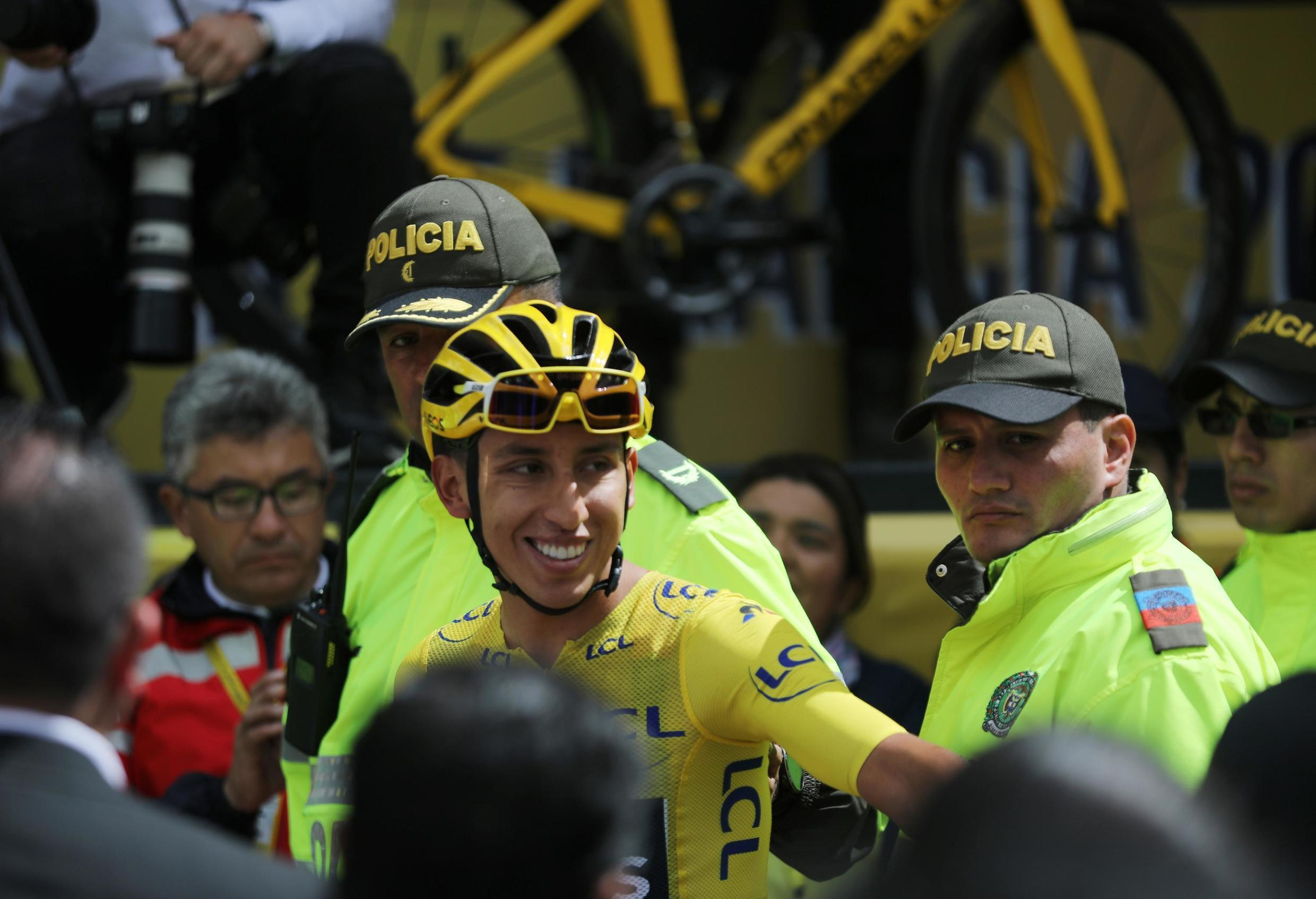 Egan Bernal returns to his home town of Zipaquira in Colombia 22 days after winning the Tour de France.