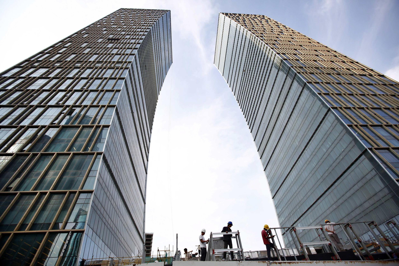Một công trường xây dựng tại Thượng Hải, Trung Quốc, ngày 14/092010