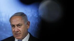 O Primeiro-ministro de Israel, Benyamin Netanyahu. 29 de Janeiro de 2018