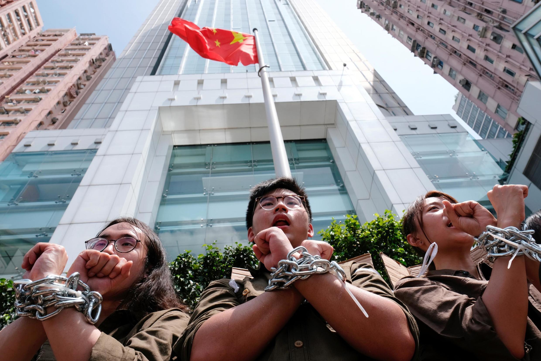 Thanh niên Hồng Kông phản đối can thiệp Trung Quốc tại đặc khu, Hồng Kông tháng 6/2019.