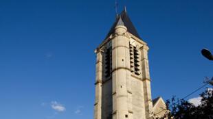 Igreja católica de Saint-Cyr-Sainte-Julitte, em Villejuif, que seria um dos alvos de atentado do argelino Sid Ahmed Ghlam, preso em Paris. .