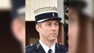 Le lieutenant-colonel Arnaud Beltramea mort après s'être substitué à un otage du tueur jihadiste lors de l'attaque d'un supermarché de Trèbes (Aude), le 23 mars 2018.