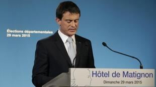 French Prime Minsiter Manuel Valls aknowledged a setback for for the left after the second round results.