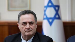 Le ministre israélien des Affaires étrangères, Israël Katz, lors de la réunion hebdomadaire du cabinet à Jérusalem le 24 février 2019.
