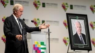 Сэр Крейг Риди на церемонии закрытия конференции в Катовице