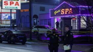 亞特蘭大槍擊案事發地點資料圖片